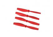 Komplet śmigieł bullnose 4045 dwa lewe + dwa prawe czerwone LYNX