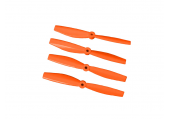 Komplet śmigieł bullnose 6535 dwa lewe + dwa prawe pomarańczowe LYNX