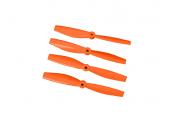 Komplet śmigieł bullnose 6545 dwa lewe + dwa prawe pomarańczowe LYNX