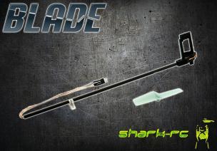 Blade mCP X BL - Belka ogonowa z mocowaniem silnika, podłączeniem i śmigłem czarna węglowa