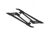 OXY 3 - Płozy podwozia niskie czarne karbonowe