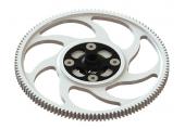 Blade 200 S / 200 SR X -Zębatka główna CNC z mocowaniem czarnym aluminiowym LYNX