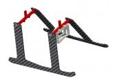 Blade Nano CP S / Nano CP X - Podwozie czerwone aluminiowo-karbonowe LYNX