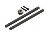 Blade 180 CFX / 180 CFX TRIO - Wały główne czarne karbonowe z pierścieniem LYNX