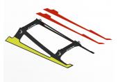 Blade 230 S - Podwozie niskie czarne karbonowe LYNX