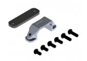 Mocowanie złącza XT60 płaskie srebrne aluminiowe