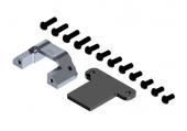 Mocowanie złącza XT60 pionowe srebrne aluminiowe
