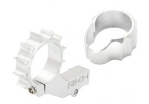 Blade mCP X BL - Aluminiowe mocowanie silnika ogonowego 8 mm z radiatorem srebrne RKH