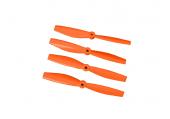 Komplet śmigieł bullnose 5045 dwa lewe + dwa prawe pomarańczowe LYNX