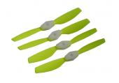 Komplet śmigieł bullnose 6545 dwa lewe + dwa prawe zielone LYNX