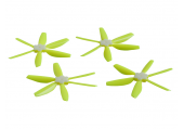 Komplet pięciokrotnych śmigieł składanych bullnose 5045 dwa lewe + dwa prawe żółte LYNX