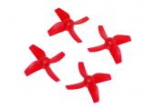Komplet śmigieł poczwórnych 31 mm dwa lewe + dwa prawe czerwone LYNX