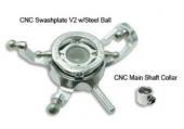 Blade mCP X - Aluminiowa tarcza sterująca srebrna RKH
