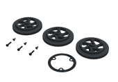 OXY 2 - Zębatki główne proste czarne plastikowe