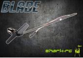 Blade Nano CP X - Belka ogonowa z silnikiem, mocowaniem i śmigłem czarna węglowa