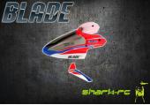 Blade mCP X - Kabina ze statecznikiem czerwona plastikowa