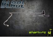 Blade mCP X - Belka ogonowa z silnikiem, mocowaniem i śmigłem