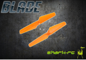 Blade 180 QX - Śmigła prawe + lewe pomarańczowe