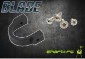 Blade 450 3D - Mocowanie podpór i statecznika poziomego