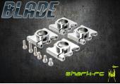 Blade Mach 25 - Zaciski ramion srebrne aluminiowe
